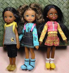 Lot 3 So in Style Barbie Little Sister Dolls Janessa Kianna Courtney Dressed | eBay