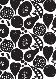 Black and White - Fruit Inspiration Blog Post http://johnsongillies.co.uk/blog/fruit-inspiration/