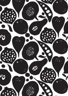 Black and White - Fruit Inspiration Blog Post http://johnsongillies.co.uk/blog/fruit-inspiration/