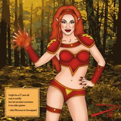 Jinkx as an elven sorceress doing fire magic