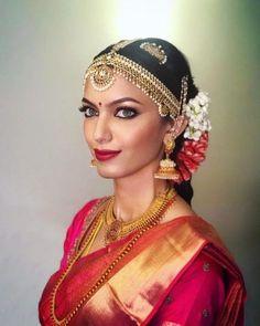 Ideas south indian bridal jewelry sets wedding bride for 2019 South Indian Bridal Jewellery, Indian Bridal Sarees, South Indian Weddings, Indian Bridal Makeup, South Indian Bride, Kerala Bride, Bridal Beauty, Piercings, Telugu Brides
