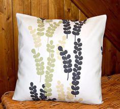 charcoal grey sage green cream leaf stems by LittleJoobieBoo, £14.50