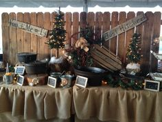 rustic food table wedding ideas - Google Search