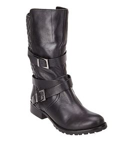 Look at this Matisse Black Rosalie Leather Boot on #zulily today!