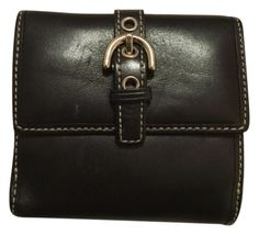 Black Coach leather wallet. Get the lowest price on Black Coach leather  wallet and other d0204ce30cc8b