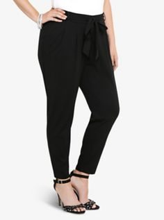 Tie Front Tapered Trouser