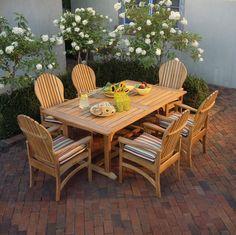 "Kingsley-Bate Essex 106"" Rectangular Extension Table | Teak Furniture"