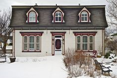 Rosedale Manor B, Placentia, Newfoundland, 2011 by Photonguy2009, via Flickr Newfoundland And Labrador, White Cottage, Nova Scotia, Historic Homes, Rug Hooking, Old Houses, Cottages, The Good Place, Beautiful Homes