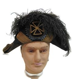 vintage vintage bicorn Masonic regalia hat / by mudintheUSA