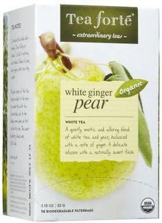 White Ginger Pear has been one of my favorite flavors from Tea Forte, My Absolute Favorite I have not found another that is even close to how amazing it is. Add a few drops of honey and maybe a little lemon juice and you'll be on your way to heaven!!! Amazing!!!  | Tea Forte Forte Filterbags-White Ginger Pear, 16 ct - Free Shipping