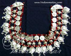 Odissi dance silver look hip chain waist belt Indian Jewelry