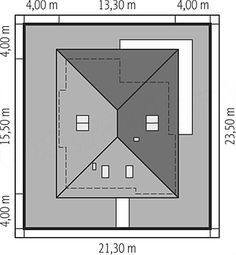 Usytuowanie projektu Liv 3 na działce House Layout Plans, Tiny House Plans, House Layouts, One Storey House, Indian House Plans, Zen House, Modern Bungalow House, Architectural House Plans, Brick Architecture