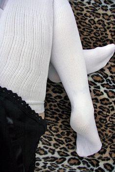 2b3fd71628d White thigh socks Thigh High Socks