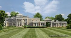 This luxurious classical house plan offers stunning views for an exuberant lifes. - Architecture - Welcome Haar Design Tuscan House Plans, Luxury House Plans, Buckingham House, Beverly House, Vienna House, Cape Cod Style House, Grand Foyer, Rustic Italian, Elegant Dining Room