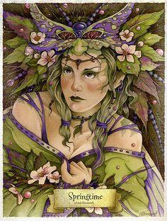 Springtime Fairy  by: Linda Ravenscroft