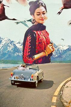 Retrospective Dream. Surreal Mixed Media Collage Art By Ayham Jabr.