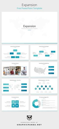Create your next presentation with this Expansion Free PowerPoint Templates for Business. A beautiful and well-designed set of slides ready to use. Free Ppt Design, Powerpoint Design Templates, Web Design, Powerpoint Template Free, Ppt Free, Homepage Design, Brochure Design, Flyer Template, Design Ideas