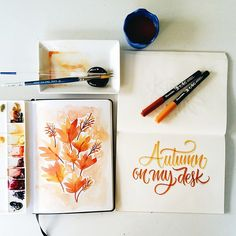 Autumn #watercolor #monologue #holbeinwatercolors