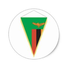 #Zambia Flag Triangle Stickers - #country gifts style diy gift ideas