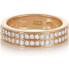 Repossi Berbère 18-karat rose gold diamond phalanx ring ($4,430) ❤ liked on Polyvore