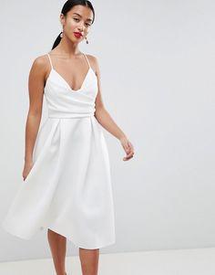 ASOS Petite | ASOS DESIGN Petite scuba cami prom midi dress