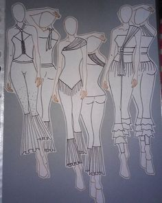 #fashion #moda #mode #design #designer #designing #fashiondesign #fashiondesigner #fashiondesigning #stabilo #pen #african #pearls #crochet #mermaid #flounce #frill #frills #tufted #fringe #style #stylist