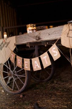 rustic wagon treats table