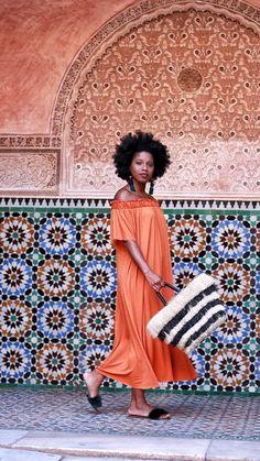 Guide to Marrakech Morocco Black Girl Fashion, Bold Fashion, Curvy Fashion, Autumn Fashion, Vintage Fashion, Petite Fashion, Street Chic, Street Style, Morocco Fashion