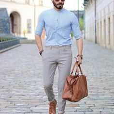 Wish everyone wonderful weekend 1 - 10 what do you think 🤔 Formal Dresses For Men, Casual Wear For Men, Business Casual Outfits, Men Clothes, Men Style Tips, Fashion Men, Boy Outfits, Shirt Style, How To Wear
