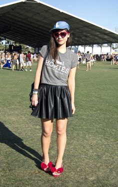 Street Style At 2013 Coachella Festival: Crop Tops, Grunge & Summer Black Are Trending | Grazia Fashion