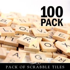 Make your own cuteness with these brand new Scrabble tiles. These wooden game pieces are perfect crafting pieces. The surfaces are smooth and the edges are turned and finished. This is a 100 pack of l