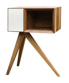 Tripodal side table by designer Simon Moorhouse