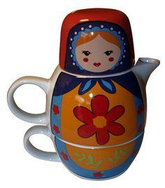 Nos encantan los colores de esta preciosa tea for one, tetera y taza en una sola pieza. Es preciosa, verdad?