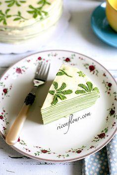 Matcha Mille Crepe Cake | Rice 'n Flour