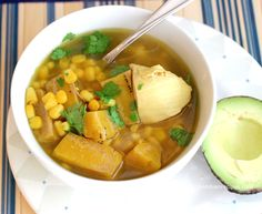Sopa de Pollo y Plátano Verde (Chicken and Green Plantain Soup) | My Colombian Recipes