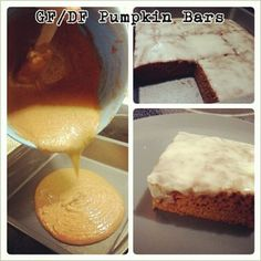 FODMAP Friendly and Fit: Frosted Pumpkin Bars **Need to look into Pumpkin Pie Spice to see if it's FODMAP free.