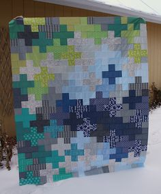 Kelsey's Manly plus Quilt Top by Everyday Fray Quilting Tutorials, Quilting Projects, Quilting Designs, Sewing Projects, Diy Projects, Plus Quilt, Quilt Top, Nancy Zieman, Scrappy Quilts