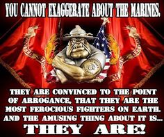 You cannot exaggerate about Marines Marine Quotes, Usmc Quotes, Military Quotes, Military Humor, Military Love, Military Veterans, Military Ranks, Military Records, Marine Corps Humor