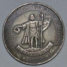 Moeda de 4000 réis do 4º Centenário do Descobrimento do Brasil, Pedro Álvares Cabral, 1500-1900, med