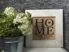HOME Burlap Frame - DIY Home Decor wood pallet projects featuring Jillibean Soup Mix the Media wood plank surfaces