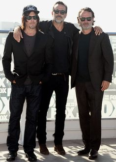 Norman Reedus, Jeffrey Dean Morgan, and Andrew Lincoln at SDCC on July 22, 2016