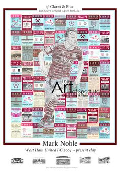 West Ham Captain Mark Noble of Claret & Blue Mark Noble, West Ham, Arsenal, Chelsea, Sports, Artwork, Blue, Hs Sports, Work Of Art