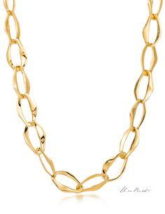 Elsa Peretti® Aegean necklace in 18k gold. #ElsaPeretti #TiffanyAndCo #TiffanyPinterest #Necklace #Gold