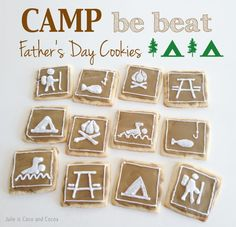 Super Creative Father's Day Cookies. (Would also be great for a Boy Scout outing or Camp themed party.)