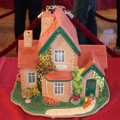 Gingerbread house. So beautiful and detailed!