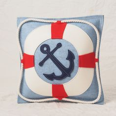 Blue Anchor Throw Pi
