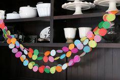 Tissue Paper Garland Rainbow Garland Party by pipsqueakandbean
