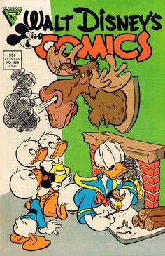 Walt Disney's Comics N° 529 Cartoon Books, Comic Book Characters, Disney Duck, Disney Art, Vintage Comic Books, Vintage Comics, Donald Duck Comic, Duck Cartoon, American Cartoons