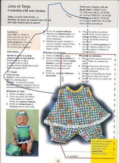 Poppenkleertjes Naaien Gratis Patronen Sewing Doll Clothes, Crochet Doll Clothes, Sewing Dolls, Girl Doll Clothes, Diy Clothes, Baby Born Clothes, Bitty Baby Clothes, Baby Clothes Patterns, Doll Dress Patterns