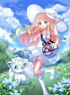 Lillie and Alola Vulpix from Pokemon Moon and Sun Collab with Started this long time ago, but he/she had a few hiatus break and I have to scrap off some. Pokemon Fanart Collab: Lillie and Alola Vulpix Pokemon Waifu, Pokemon Alola, Pokemon People, Pikachu, Pokemon Memes, Pokemon Fan Art, Kawaii Anime, Pokemon Moon And Sun, Strongest Pokemon